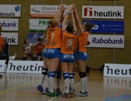 Foto bij Dames 1 neemt 3 punten uit Wageningen