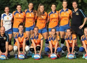 Foto bij Promotie/Degradatie wedstrijden Dames 1